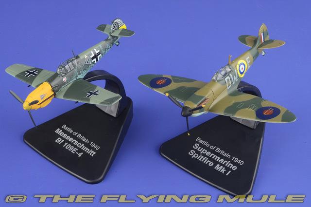 Métal Neuf Duel Série Modèle 1:72 Atlas Bf-109 E-4 Et Spitfire Mk.i