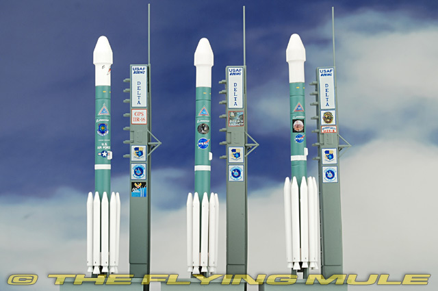 DM-56394 Dragon Delta Rocket Diecast Model, USAF, 3-PC Set