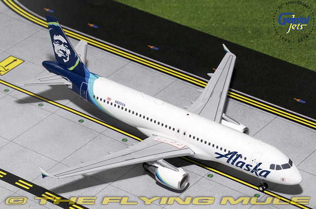 1 200 A320-200 A320-200 N625VA Alaska Airlines