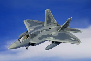 F-22A Raptor Diecast Model, USAF 1st OG, #04-4071, Langley AFB, VA