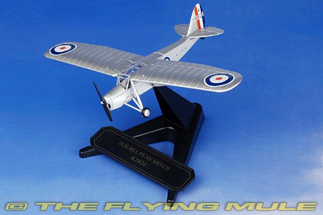 Oxford Diecast Model 1:72 De Havilland Puss Moth 80a Raf Trainer 1941 K1824