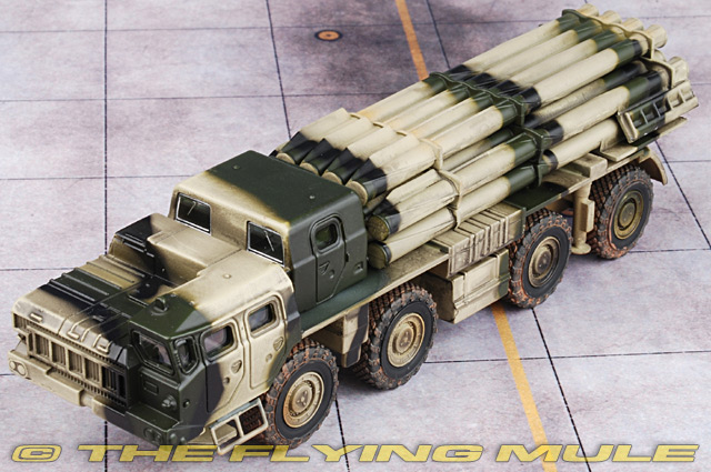 BM-30 Tornado Smerch Russian Rocket Launcher Die Cast Car Metal model 85 mm